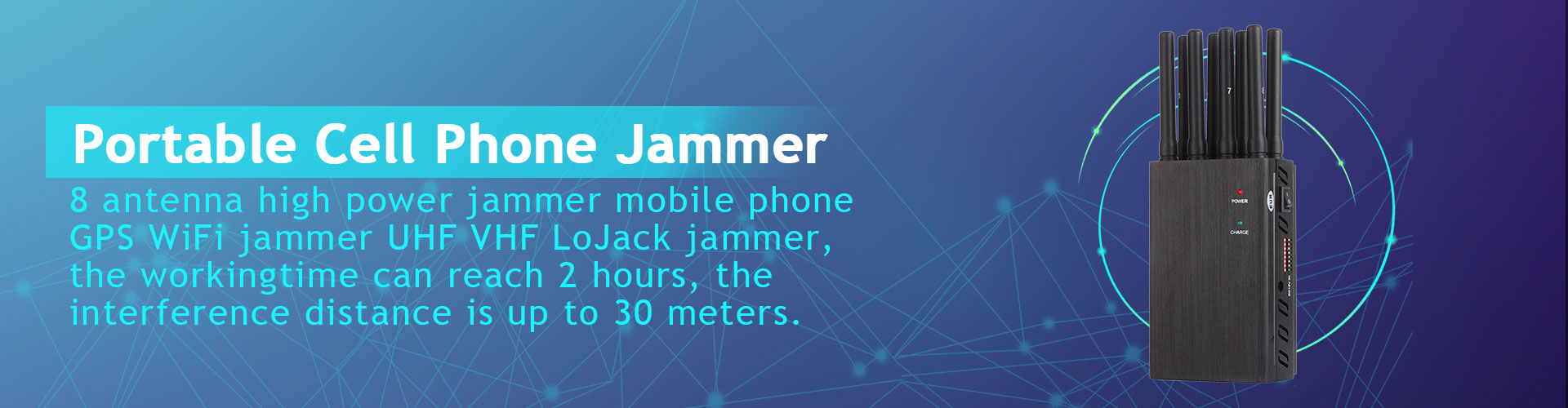 8 Bands jammer device WIFI GPS