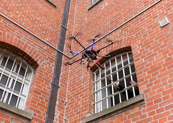 The jammer eliminates the threat of drones