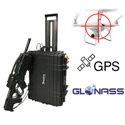 High Power Anti Drone Gun Jammer Portable Large Range Rf