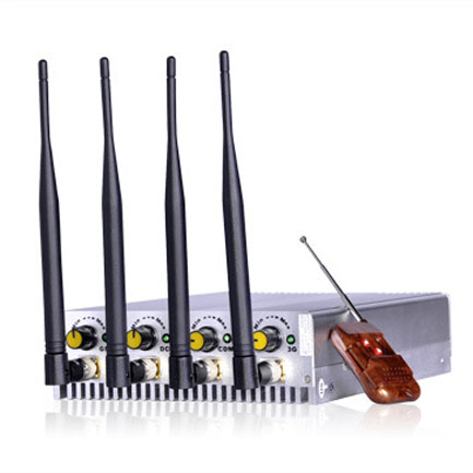 Mobile Phone Desktop Power Adjustable Jammer 4 Bands RF GPS WiFi