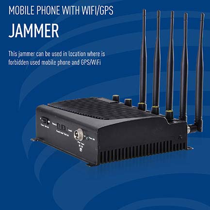 mobile phone jammer Bendigo , 5 Bands Power Adjustable Desktop Jammer Device Block DCS PHS WiFi