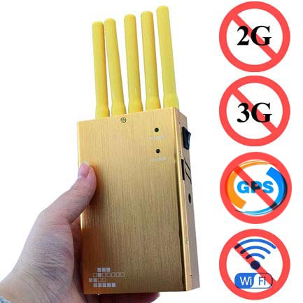 block mobile phone signals - Handheld 5 Bands All GPS Jammer High Power