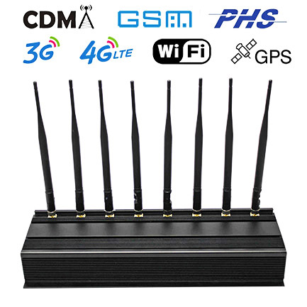 Cell jammer for sale | 8 Bands All Cell Phone Jammer Power Adjustable Blocker WiFi GPS