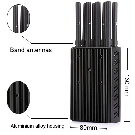 8 Bands Jammer Device