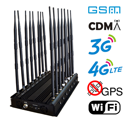 Super high power desktop jammer 16 bands